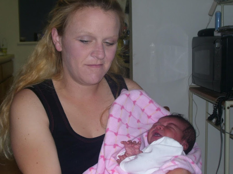 Photo: My daughter mother Marie dawn Beckim in 2007 with baby Shakira