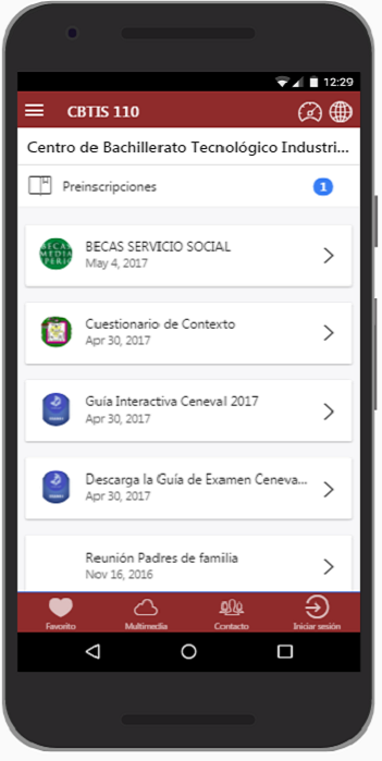 Escolares MX- screenshot