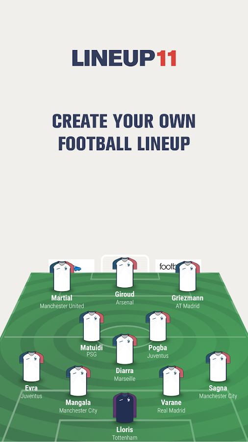 Lineup11- Football Line-up