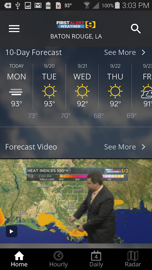 WAFB First Alert Weather- screenshot