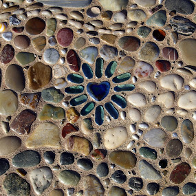 Heart of Glass by Ann Marie - Artistic Objects Other Objects ( art, glass, mosaic, stones )