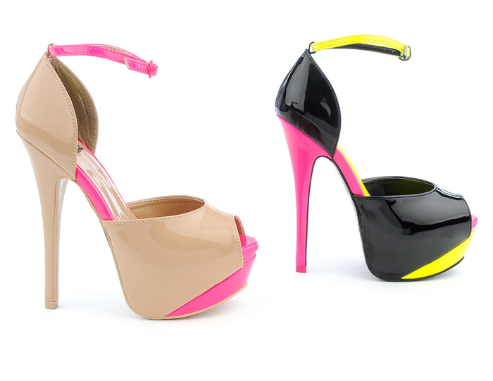 Photo: These color-blocked high heel dress shoes are a must-have for every elegant woman's wardrobe.