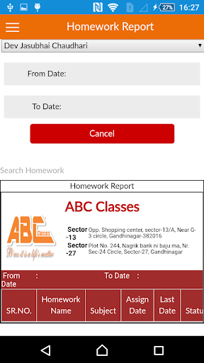 Parent's App | ABC Classes