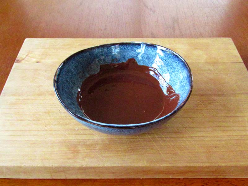 Heat the chocolate in the microwave until it's melted to make this guilt-free five-spice chocolate mousse