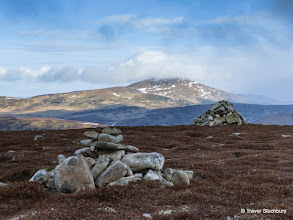 Photo: A passing snow shower leaves Morven with a cap of cloud