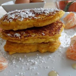 Fluffy Citrus Coconut Pancakes.