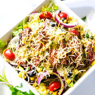Cheesy Mexican Steak Salad.