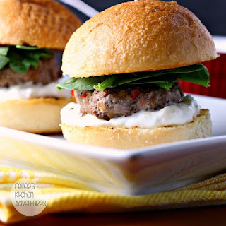 Middle Eastern Style Lamb Sliders with Yogurt Sauce