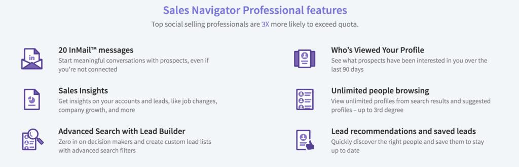LinkedIn Premium Sales Navigator helps with lead generation