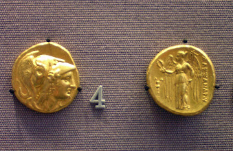Photo: Double Stater of Alexander. Macedonia 330-320 BC