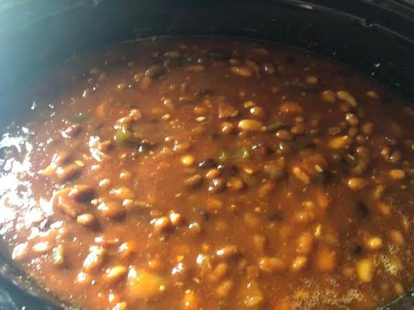 Multi Bean Baked Beans In Slow Cooker Recipe
