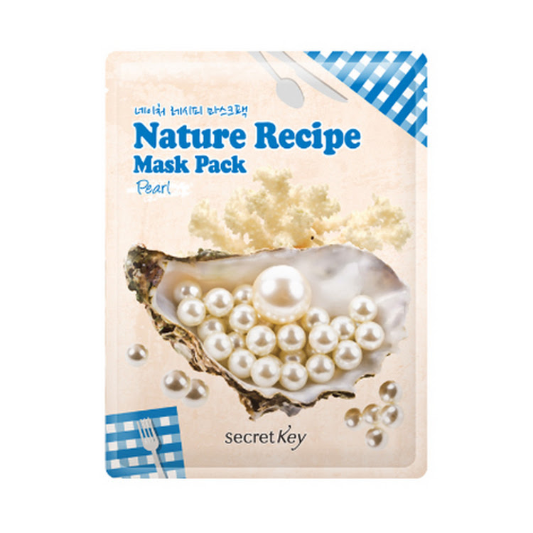 [SECRET KEY] Nature Recipe Mask Pack Pearl 20g Elastic skin by Supermodels Secrets