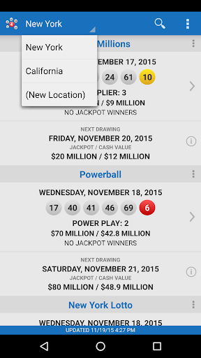 Lotto Results - Mega Millions Powerball Lottery US Screenshot