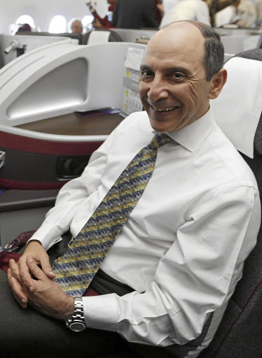 Spreading wings: Qatar Airways CE Akbar Al Baker expects to report a loss as a result of the dispute over United Arab Emirates and Saudi Arabia airspace. The airline on Monday acquired a 9.61% stake in Cathay Pacific. Picture: REUTERS