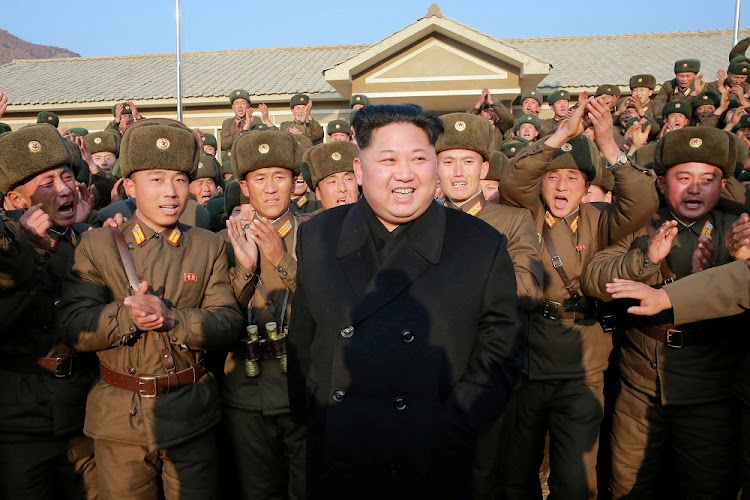 North Korean leader Kim Jong-un inspects a KPA unit in this undated photo released by North Korea's Korean Central News Agency, in Pyongyang.. Picture: REUTERS