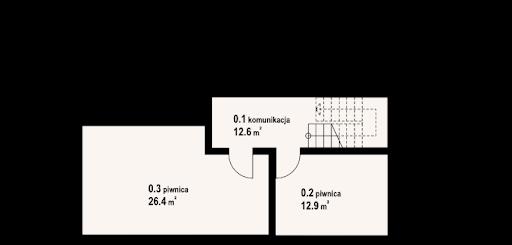 Chmielniki małe dw 65 - Rzut piwnicy