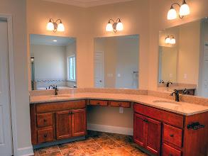 Photo: Custom master bath vanity in the LEIGHTON