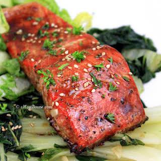 Soy-Mango Glazed Salmon.