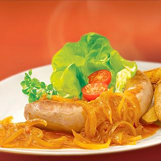 Zwiebel-Curry-Sauce z. B. zu Bratwurst