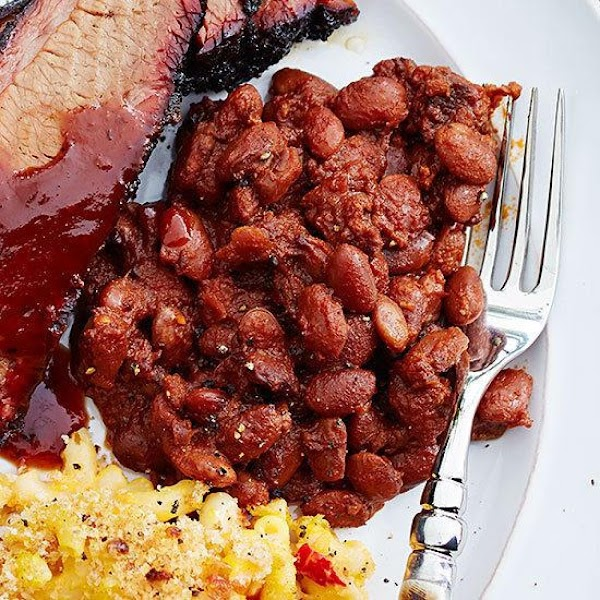Not Too Sweet Dutch Oven Baked Beans Recipe