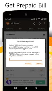 Recharge Plans & Prepaid Bill Screenshot
