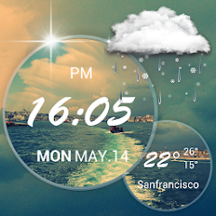google play Moto Blur style Atrix Clock for pc