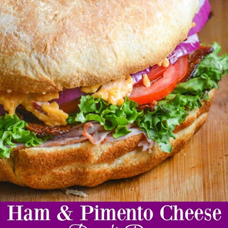 Ham & Pimento Cheese Bundt Pan Sub Sandwich.