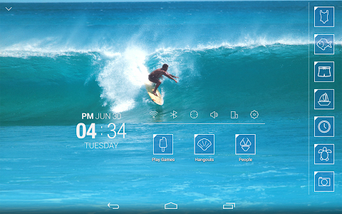 Surfing wave Atom Theme screenshot 5