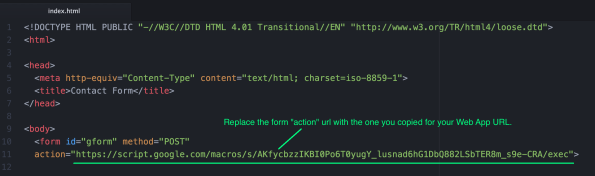 How to send email from static html page