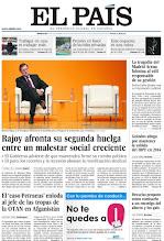 Photo: Rajoy afronta su segunda huelga general entre un malestar creciente, las consecuencias del 'caso Petraeus' y Bruselas propone como comisario a un enemigo del aborto y de los gais, en la portada de la edición nacional del 14 de noviembr. http://ep00.epimg.net/descargables/2012/11/13/80c84cac4ebd34652bcd5fd8f93ea405.pdf