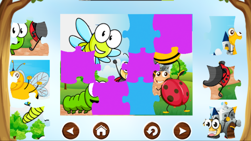 Bug Puzzle Games Free For Kids