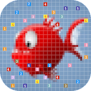 Kids Coloring Fish - Pixel Draw Art icon