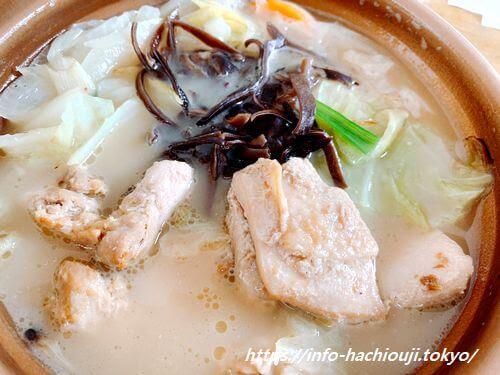 セブンイレブン たんぱく質が摂れる鶏鍋 豚骨醤油味