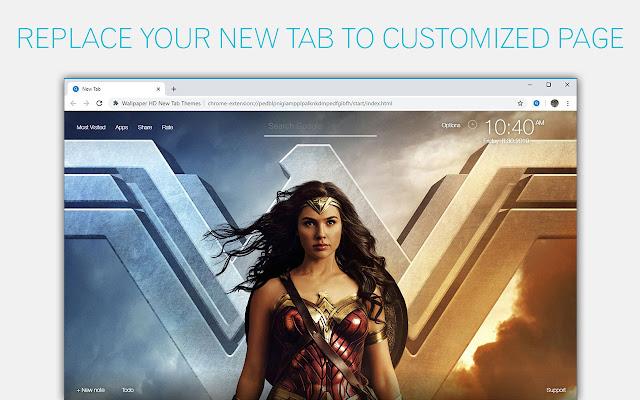 Wonder Woman Wallpaper NewTab - freeaddon.com
