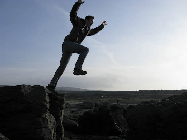 Photo: Jumping near Galway, Ireland
