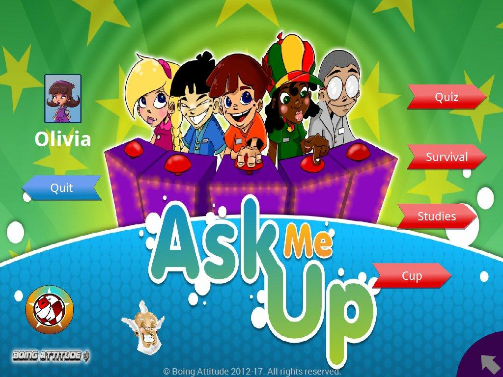 AskMeUp Quiz- screenshot