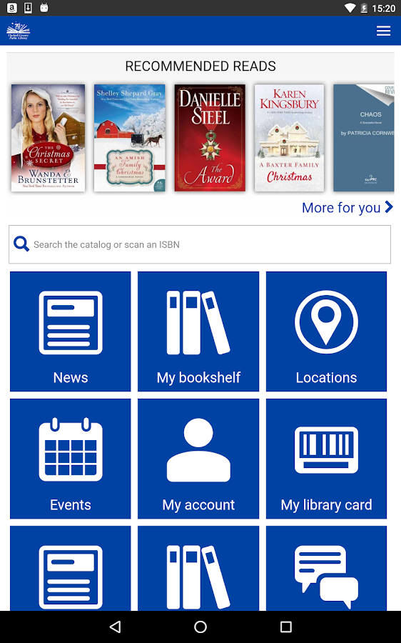 Harford County Public Library- screenshot