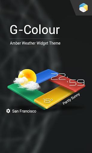 3D G-Color Weather Live Widget