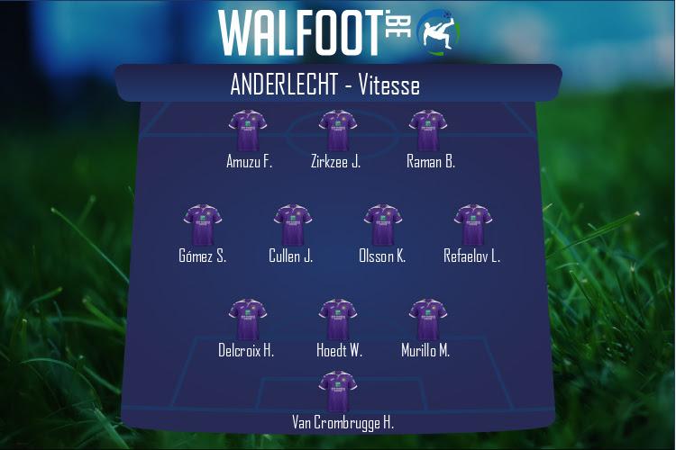 Anderlecht - Vitesse (Conference League): Les compositions ...