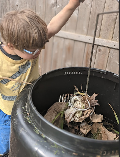 Easter in the Compost Bin