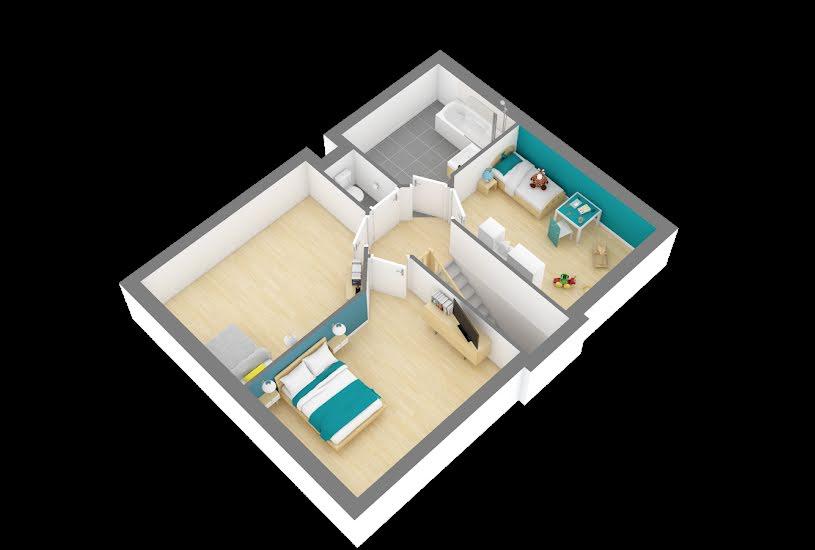 Vente Terrain + Maison - Terrain : 363m² - Maison : 94m² à Ambillou (37340)