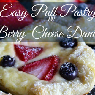 Easy Puff Pastry Berry-Cheese Danish.