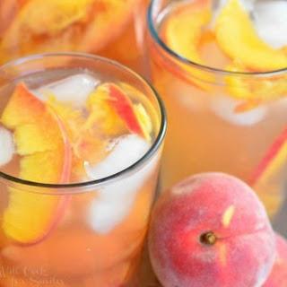 Ginger Peach and Honey Iced Green Tea.