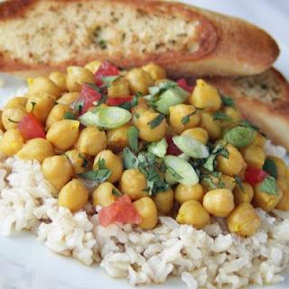 Vegan Garbanzo Bean Curry.
