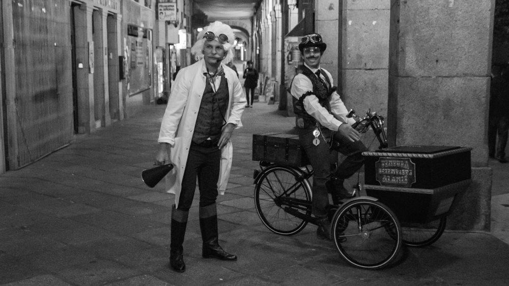 Robin Ventura y Fran con Velocípedo en Ávila Mágica 2015