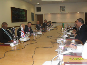 Photo: UKABC Trade Mission to Algeria December 2014. Meeting With The National Agency of Development & Investment (ANDI). The DG of ANDI with his Experts meeting MR. Osmani the UKABC CEO & Members of the British Delegation.