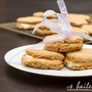 White Chocolate Peanut Butter S'more Sandwich Cookies.