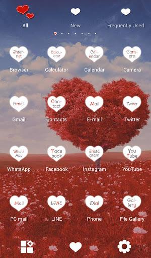 玩免費個人化APP|下載귀여운 테마 Heart Tree +HOME app不用錢|硬是要APP