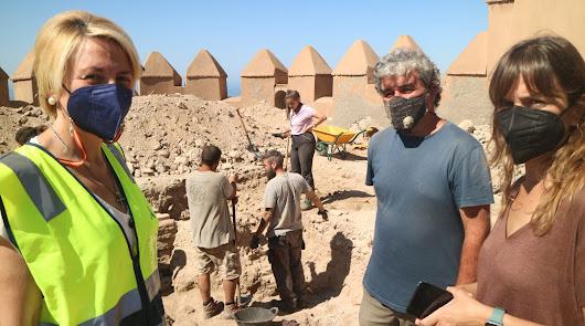 Sondeos arqueológicos en la muralla sur de la Alcazaba de Almería