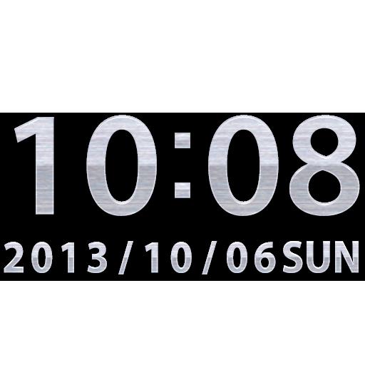 Steel clock widget -Me Clock